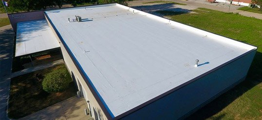 New TPO roof install